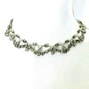 Clear Rhinestone Prom Wedding Choker Necklace